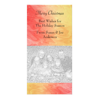 Christmas Red Yellow Texture Card