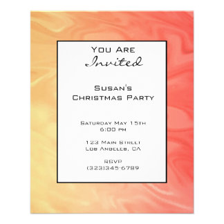 """Christmas Red Yellow Texture 4.5"""" X 5.6"""" Flyer"""
