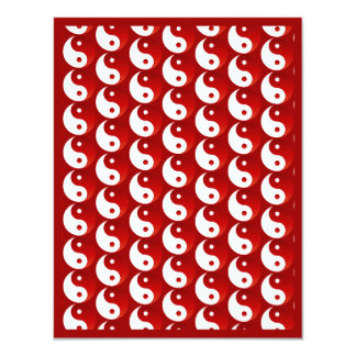 Christmas Red Yin & Yang Pattern Card