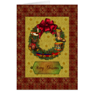 Christmas Reef and Toys Greeting Card