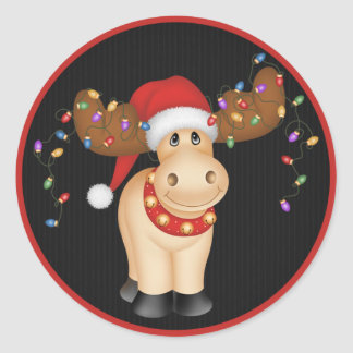 Christmas Reindeer 1 - Holiday Stickers