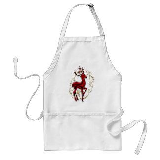 Christmas reindeer adult apron