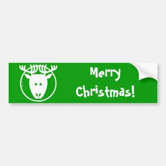 Christmas Reindeer Avatar Bumper Sticker