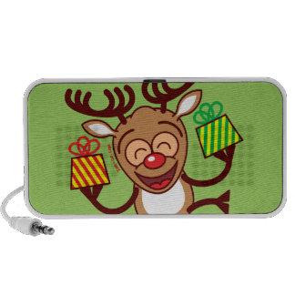 Christmas Reindeer bringing gifts iPod Speakers