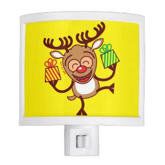 Christmas Reindeer bringing gifts Night Lite
