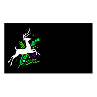 Christmas Reindeer Double-Sided Standard Business Cards (Pack Of 100)
