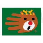 Hand shaped Christmas Reindeer card