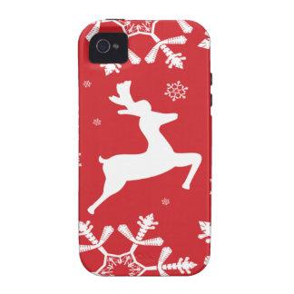 Christmas Reindeer iPhone 4 Case