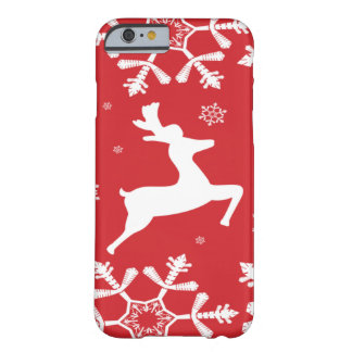 Christmas Reindeer Barely There iPhone 6 Case
