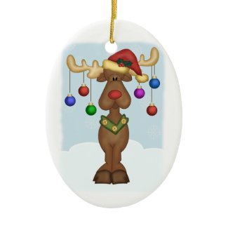 Christmas Reindeer Christmas Tree Ornament