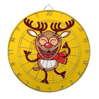 Christmas Reindeer dancing animatedly Dartboard