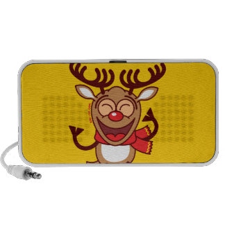 Christmas Reindeer dancing animatedly Travel Speaker