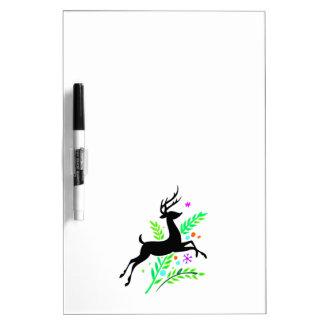 Christmas Reindeer Dry Erase Board