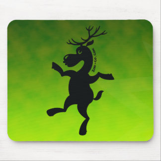 Christmas Reindeer Exercising Mouse Pad
