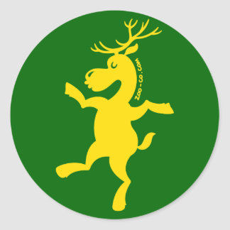 Christmas Reindeer Exercising Sticker