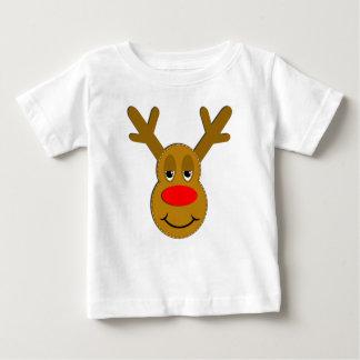 Christmas Reindeer Face Baby T-Shirt