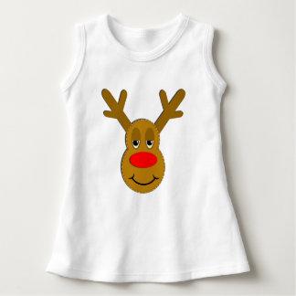 Christmas Reindeer Face Dress