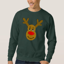 Christmas Reindeer Face Sweatshirt