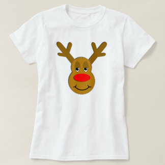 Christmas Reindeer Face T-Shirt