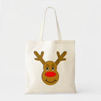 Christmas Reindeer Face Tote Bag