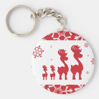 Christmas Reindeer Family Keychain