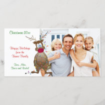 Christmas Reindeer Family Photo Card