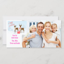 Christmas Reindeer, Family Photo Card