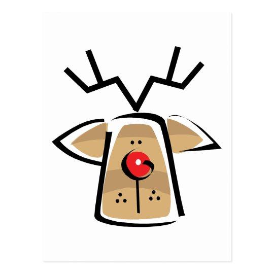 Christmas Reindeer Gift Postcard