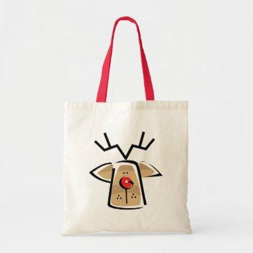 Christmas Themed Christmas Reindeer Gift Tote Bag