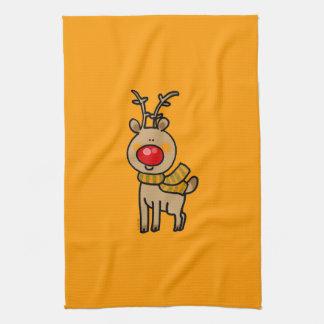Christmas reindeer hand towel