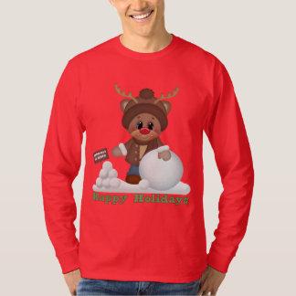 Christmas reindeer Happy Holiday t-shirt