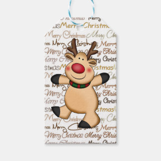 Christmas Reindeer Holiday gift tag Pack Of Gift Tags