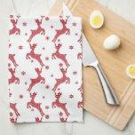 Christmas reindeer Holiday kitchen towel