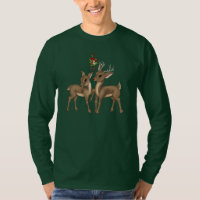 Christmas Reindeer Holiday mens t-shirt