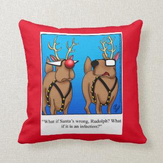 Christmas Reindeer Humor Pillow Gift
