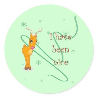 Christmas Reindeer I have been Nice Stickers sticker