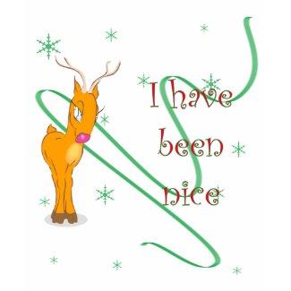 Christmas Reindeer I have been nice Womens Dark shirt