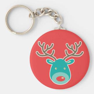 Christmas Reindeer illustration Keychains