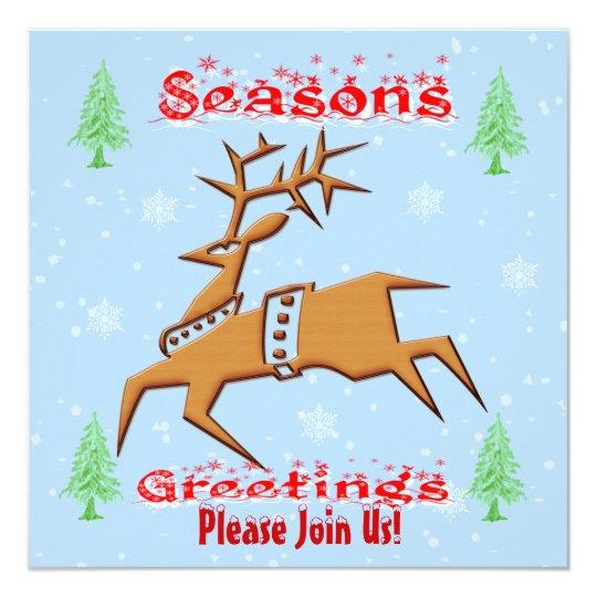 Christmas Reindeer Invitation