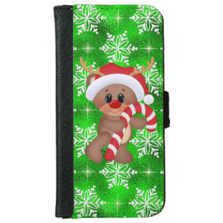 Christmas reindeer iPhone 6/6s wallet case
