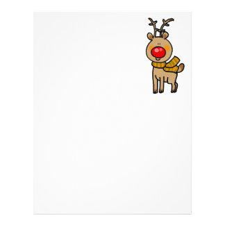 Christmas reindeer customized letterhead