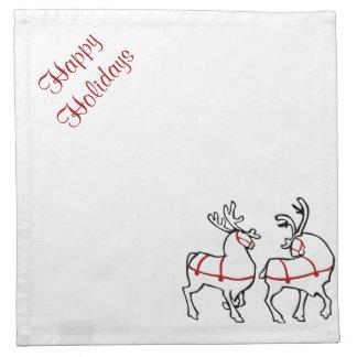 Christmas Reindeer Napkins Custom Holiday Decor