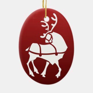 Christmas Reindeer Ornament Personalize Decoration