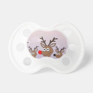 Christmas Reindeer Pacifiers