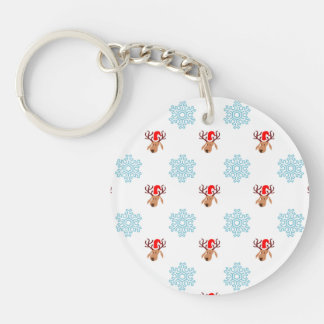 Christmas Reindeer Pattern Keychain