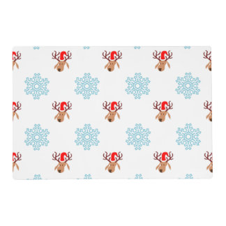 Christmas Reindeer Pattern Placemat
