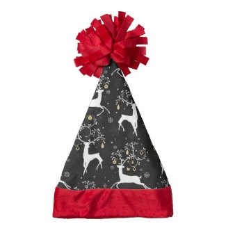 Christmas Reindeer pattern Santa hat