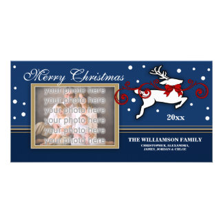 Christmas Reindeer Photocard Picture Card