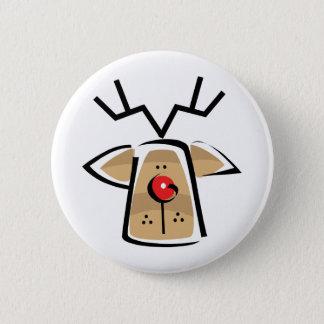 Christmas Reindeer Pinback Button