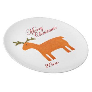 Christmas Reindeer Plate Template